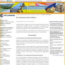 Le nouveau court séjour - Info Tourisme Pro
