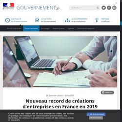 Nouveau record de créations d'entreprises en France en 2019