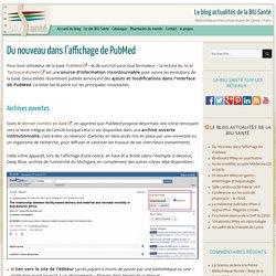Du nouveau dans l'affichage de PubMed -