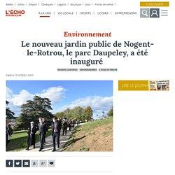Nogent-le-Rotrou, Le nouveau jardin public le parc Daupeley, a été inauguré