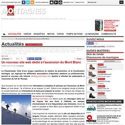 Un nouveau site web dédié à l'ascension du Mont Blanc