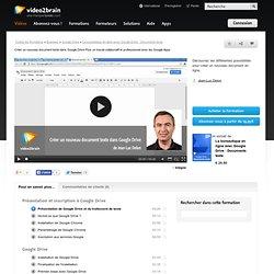 Créer un nouveau document texte dans Google Drive