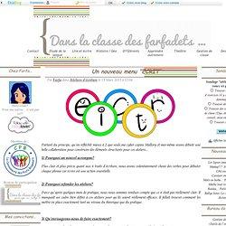 """Un nouveau menu """"ECRIT"""""""