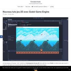 Nouveau tuto jeu 2D avec Godot Game Engine - Formation-facile