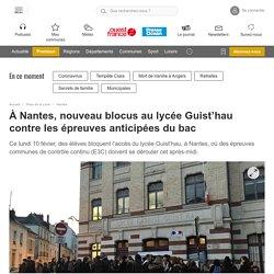 À Nantes, nouveau blocus au lycée Guist'hau contre les épreuves anticipées du bac