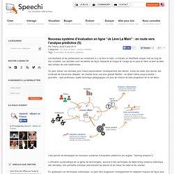"""Nouveau système d'évaluation en ligne """"Je Lève La Main"""" : en route vers l'analyse prédictive (5)."""