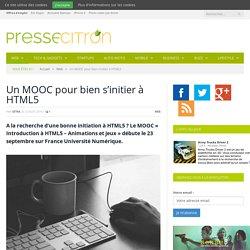 HTML5 : un nouveau MOOC francophone pour bien débuter