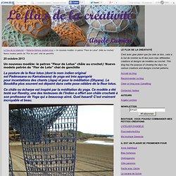 """Un nouveau modèle: le patron """"Fleur de Lotus"""" châle au crochet/ Nuevo modelo patrón de """"Flor de Loto"""" chal de ganchillo - Le flux de la créativité"""