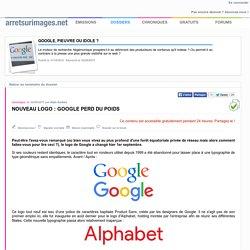 Nouveau logo : Google perd du poids