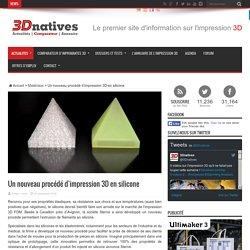 Un nouveau procédé d'impression 3D en silicone