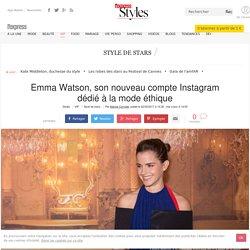 Emma Watson, son nouveau compte Instagram dédié à la mode éthique - L'Express Styles