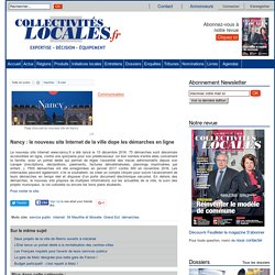 Nancy : le nouveau site Internet de la ville dope les démarches en ligne