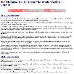 Un nouveau guide d'Internet - Gopher - par Gilles