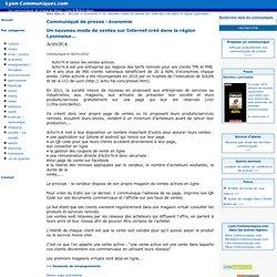 Un nouveau mode de ventes sur Internet créé dans la région Lyonnaise...