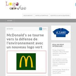 Nouveau logo vert de McDonald's qui défend l'environnement