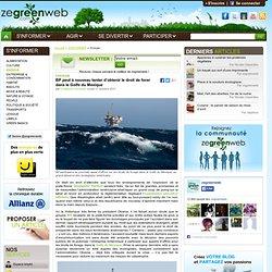 BP peut à nouveau tenter d'obtenir le droit de forer dans le Golfe du Mexique