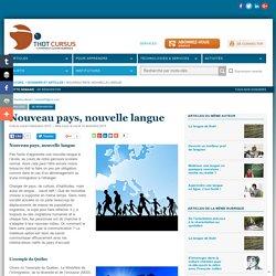 Nouveau pays, nouvelle langue