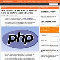 PHP fête ses 25ans avec un nouveau bond de performances à l'horizon