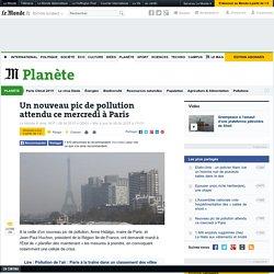 Nouveau pic de pollution attendu ce mercredi à Paris