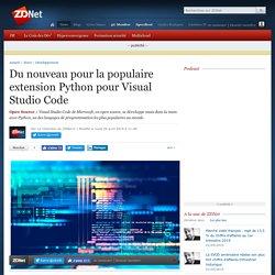 Du nouveau pour la populaire extension Python pour Visual Studio Code