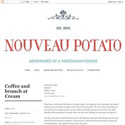 Coffee and brunch at Cream | Nouveau Potato