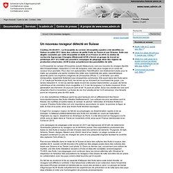 CONFEDERATION SUISSE 02/09/11 Un nouveau ravageur détecté en Suisse (Drosophila suzukii)