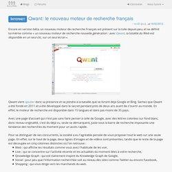 Qwant: le nouveau moteur de recherche français