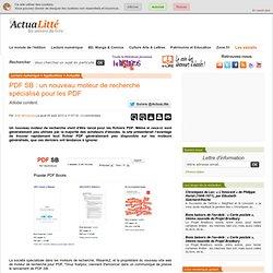 PDF SB : un nouveau moteur de recherche spécialisé pour les PDF