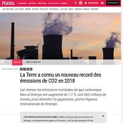 La Terre a connu un nouveau record des émissions de CO2 en 2018 par Claude-Marie Vadrot