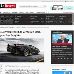 Nouveau record de ventes en 2016 pour Lamborghini