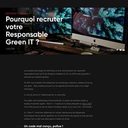 Le nouveau rôle du Responsable Green IT
