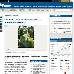 LA TRIBUNE 08/05/12 Chou au formol : nouveau scandale alimentaire en Chine