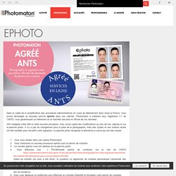 Nouveau service ephoto - Photomaton