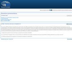 PARLEMENT EUROPEEN - Réponse à question E-002423-15 Nouveau seuil pour le bisphénol A