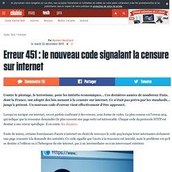 Erreur 451 : le nouveau code signalant la censure sur internet