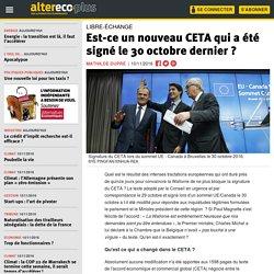 Est-ce un nouveau CETA qui a été signé le 30 octobre dernier