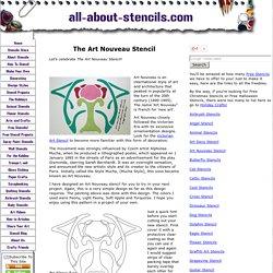 The Art Nouveau Stencil And Free Stencil Patterns