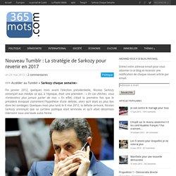 La stratégie de Sarkozy pour revenir en 2017365 mots