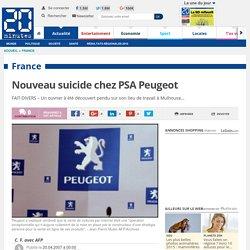 Nouveau suicide chez PSA Peugeot