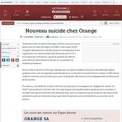 Nouveau suicide chez Orange