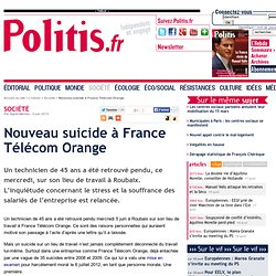 Nouveau suicide à France Télécom Orange