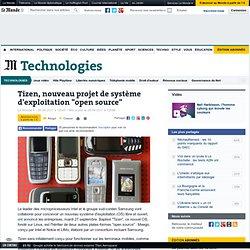 """Tizen, nouveau projet de système d'exploitation """"open source"""""""