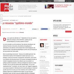 """Le nouveau """"système-monde"""""""