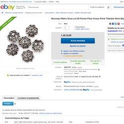 Nouveau Rétro Gros LOT 50 Forme Fleur Creux Perle Tibétain 8mm Bijoux Création