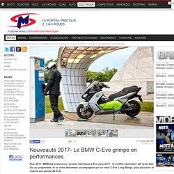 Nouveauté 2017- Le BMW C-Evo grimpe en performances