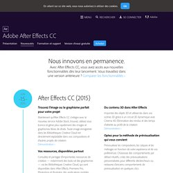 Nouveautés d'After Effects CC