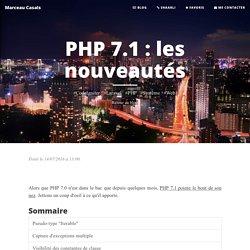 PHP 7.1 : les nouveautés