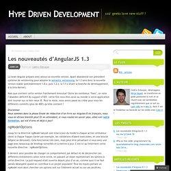Les nouveautés d'AngularJS 1.3