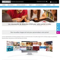 Les nouveautés de décembre 2016 pour votre portail e-sidoc - Solutions documentaires