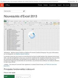 Nouveautés d'Excel2013 - Excel